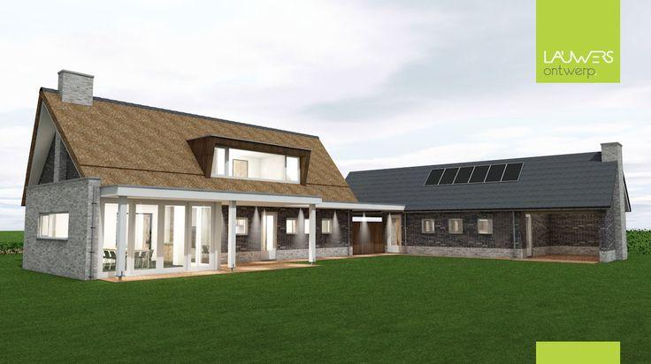 Landelijk modern woonhuis met bijgebouw te Reusel