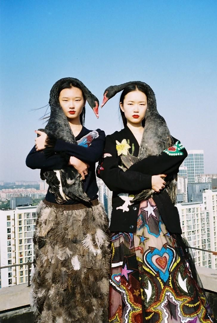 "cheongsaam: ""'Welcome to the Jungle' by Ren Hang - Vogue Me December 2016 """