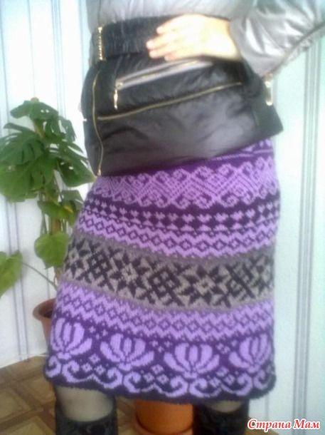 Первая юбка жаккард из Кауни...