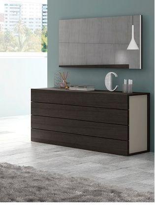 Buy Maia Light Grey Dresser With Soft Closing Tracks Drawers, Wenge Wood  Veneer Finish At Creative Furniture Store.