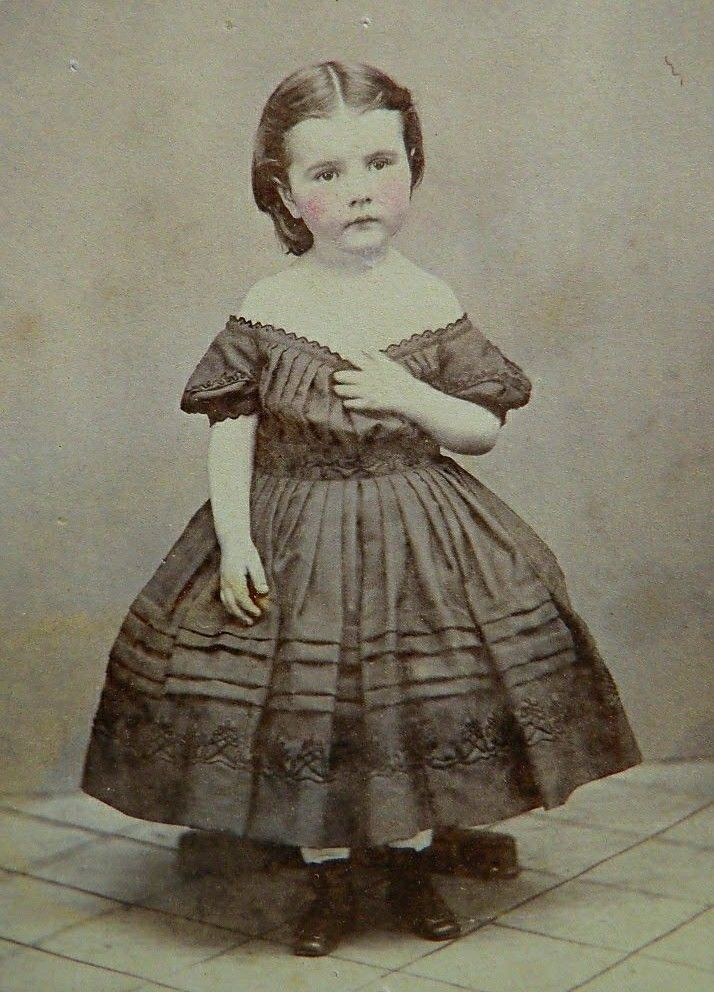 Lovely antique photo of mid 19th century young girl.