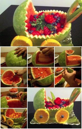 How to Make Watermelon Baby Carriage