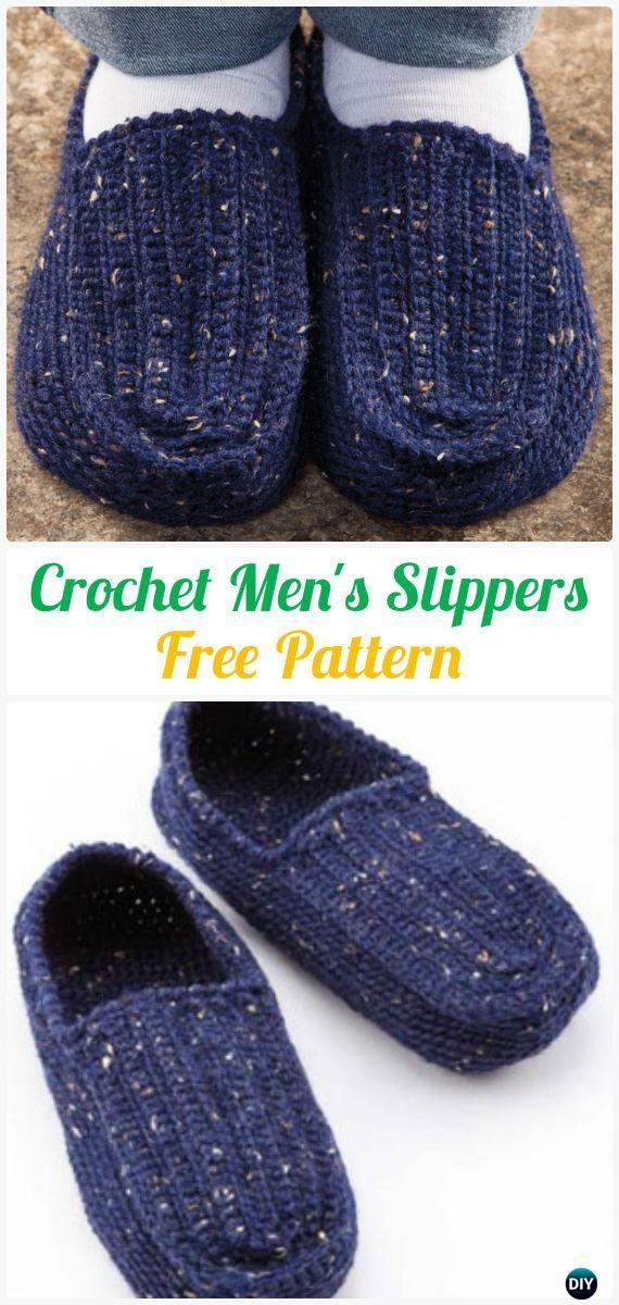 Crochet Men Slippers Shoes Free Patterns Crochet