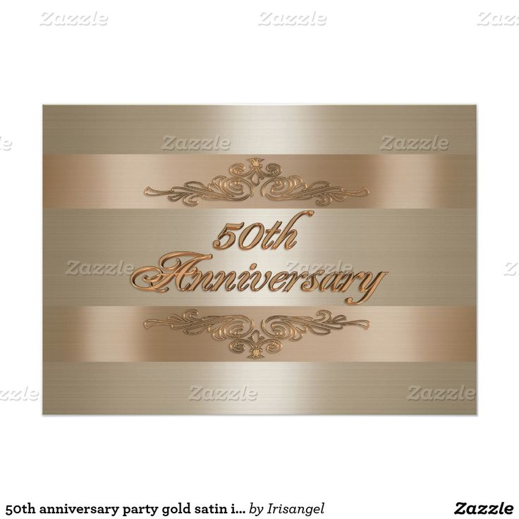 example0th wedding anniversary newspaper announcements%0A   th anniversary party gold satin invitation