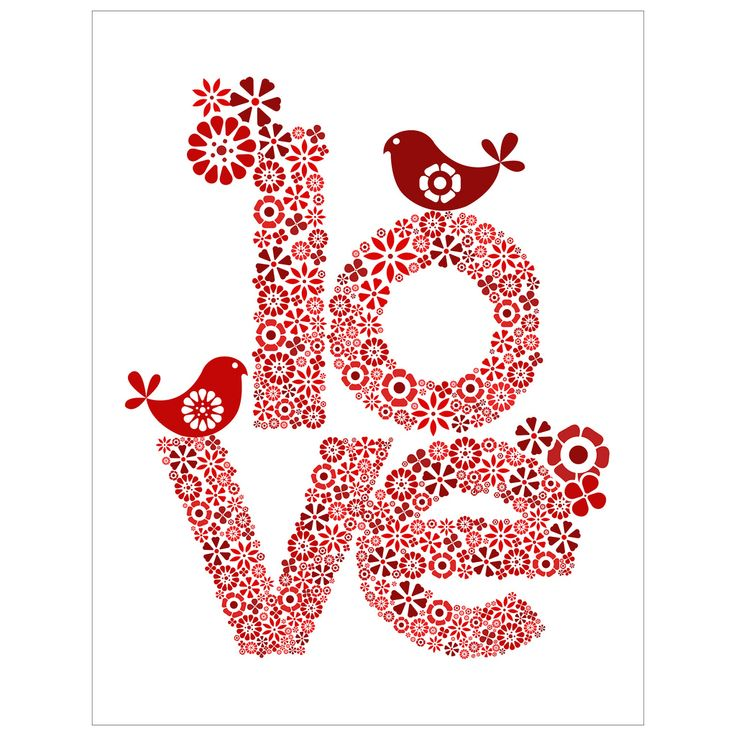 LOVE: Subway Art, Heart, Red, Frames, Valentines Day Ideas, Prints, Birds, Design, Flowers Drawings