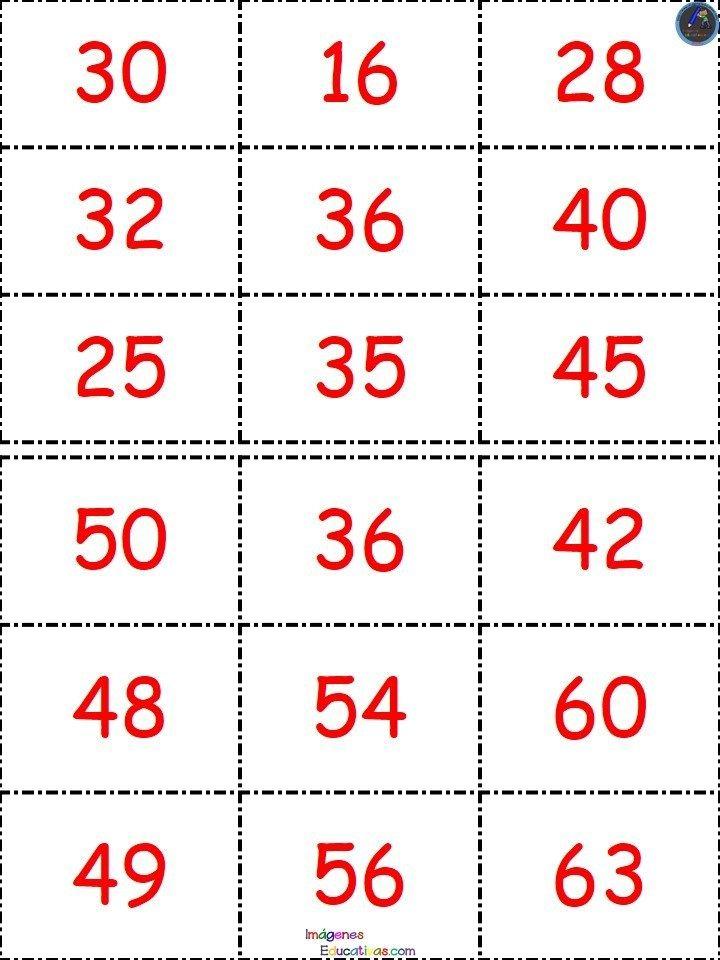 Loteria Tablas De Multiplicar 19 Tablas De Multiplicar Loteria Loteria De La Florida