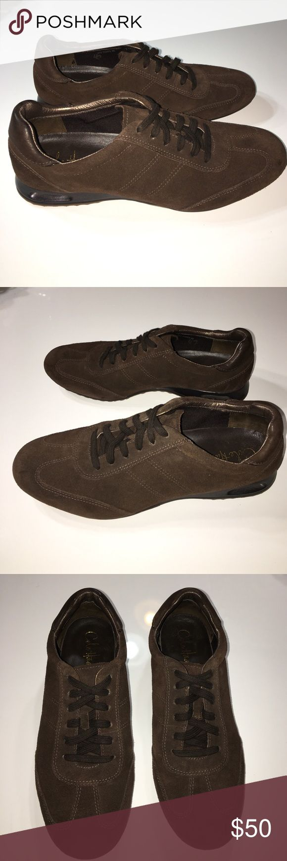 Cole Haan Nike Air leather fashion sneakers sz 8 Excellent condition authentic Cole Haan Nike Air brown suede leather fashion sneakers tennis shoes sz 8 Cole Haan Shoes Sneakers