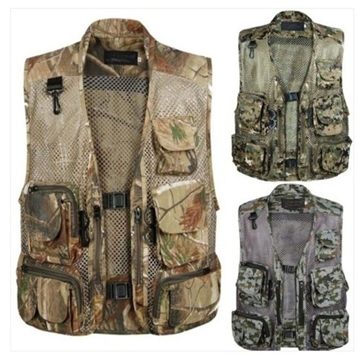 Plus size Waterproof Multi Function Vest High Quality Casual Men's  Waistcoat Vest  Photography Jacket men  workwear