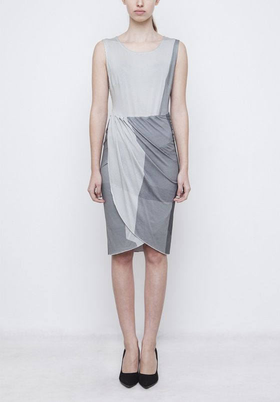 Image of Wrap Dress With Printed Fabric