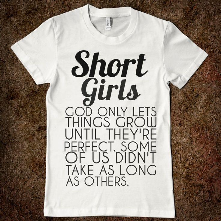 Girl T Shirt Quotes | SHORT GIRLS