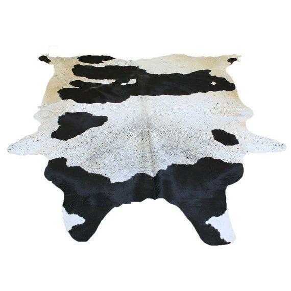 Glacier Wear Longhorn Cow Hide Leather Hair-On Rug #174
