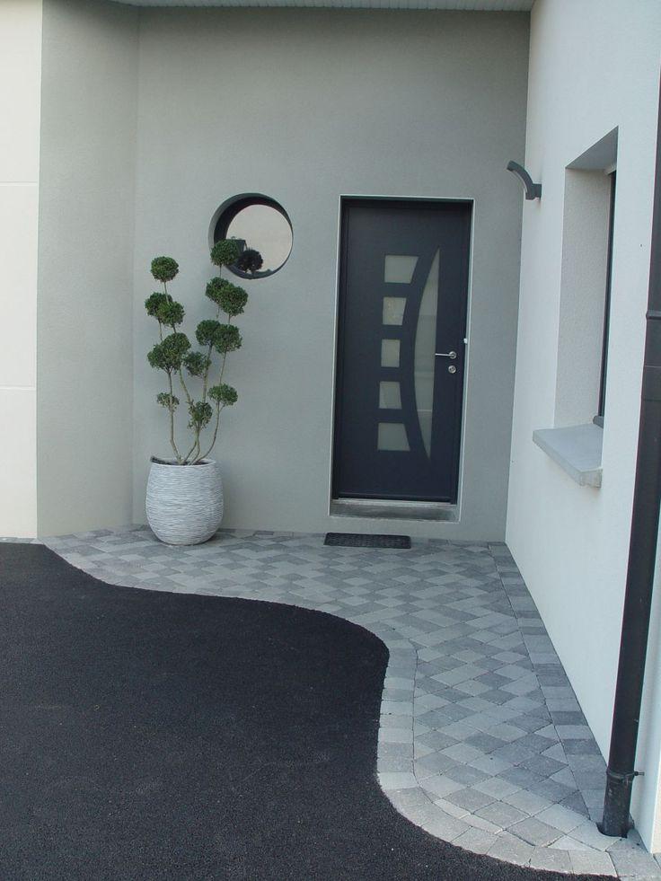 entree avec pavee bitume - Bientôt chez nous à CONGALIC dans notre maison BBC - Ergué-Gabéric - par DOMNAT29 sur ForumConstruire.com