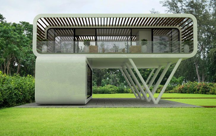 Take One Of These Modern Eco Friendly Portable Homes Anywhere With You Eco House Design Portable House Dream House Exterior