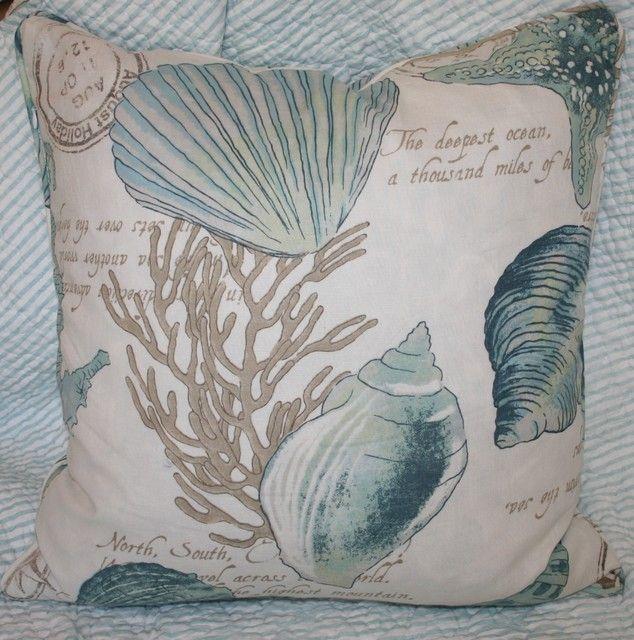 Seashell Pillow tropical bed pillows