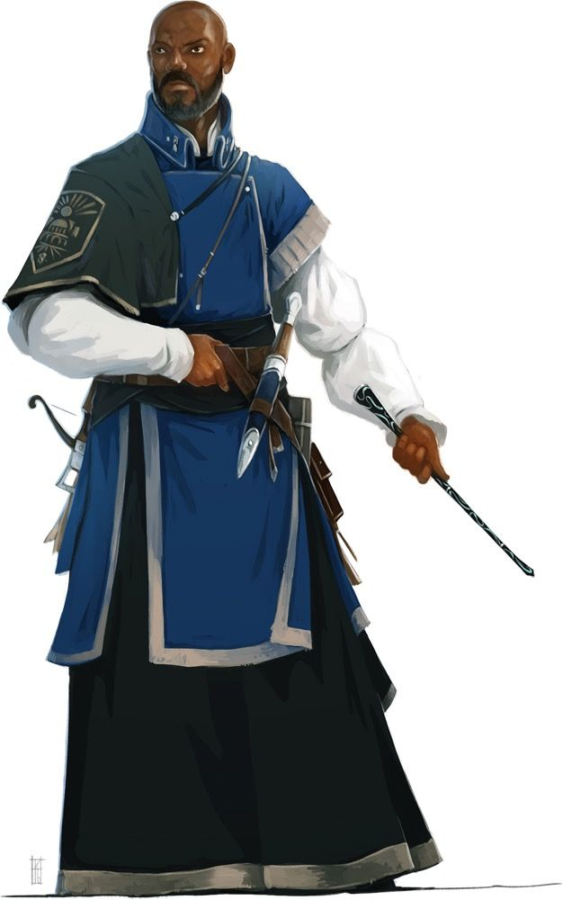 Men of Color In Fantasy Art — Guard Mage by Tim Kings-Lynne source: paizo.com