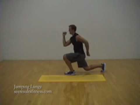 Jumping Lunge Exercise Video. These are a great workout and will make your legs stronger really fast.