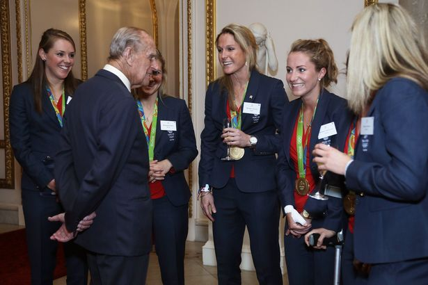 The Duke of Edinburgh Prince Philip also met with Team GB athletes