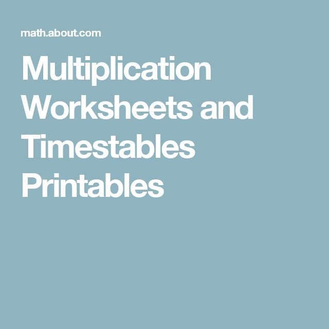 19 best multiplication images on Pinterest | Calculus, Times tables ...