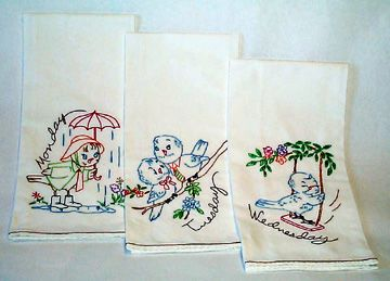 Vintage Tea Towel Embroidery Patterns | Cute, Retro And Authentic Embroidery  Designs | Craftster Blog Part 72