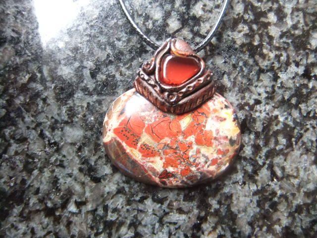 Jasper pendant with red Carnelian