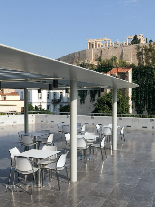 New Acropolis Museum in Athens. My favorite place for coffee....and wine...