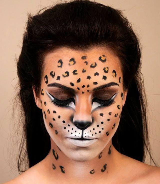 Maquillage halloween guépard