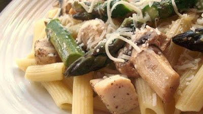 Recipes Good Food: Penne with Chicken and Asparagus
