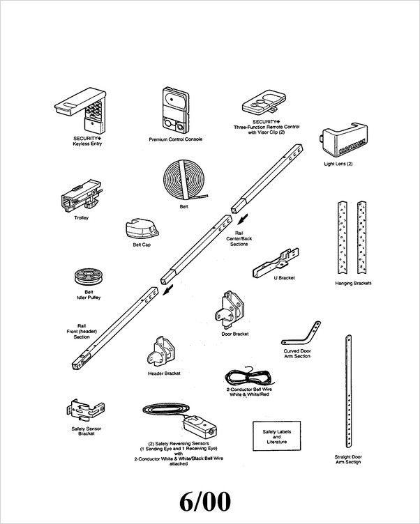 Chamberlain Garage Door Parts In 2020 Garage Door Parts Craftsman Garage Door Chamberlain Garage Door