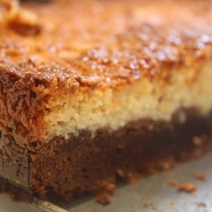 Kladdkaka med tosca [Swedish recipe]