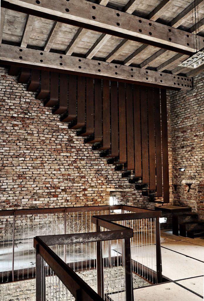 Stairs Castelvecchio Museum Carlo Scarpa Verona Italy