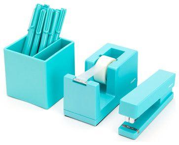 Starter Set, Aqua - contemporary - Desk Accessories - Poppin