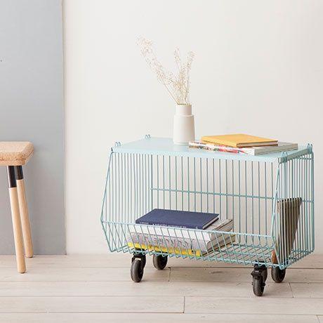 Basket Beistelltisch - Türkis - von Pension für Produkte