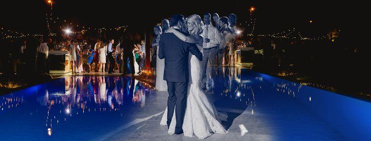 Island private house wedding reception