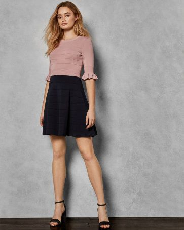 cf62a372c9f6 FrenchEconomie™ Winter 2019 Latest Women s Fashion  Ted Baker London Frill  knitted dress