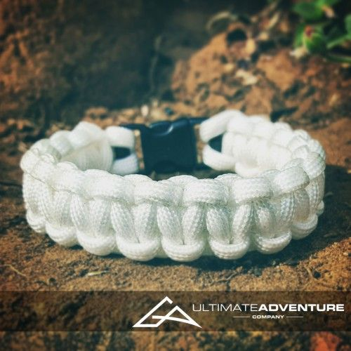 White Paracord Survival Bracelet from www.ultimateadventures.co.za  #white #bracelet #paracord #paracord550 #paracordsurvival #paracordsurvivalbracelet #survival #paracordporn #outdoorgear #survivalbracelet #survivalparacord #survivaladventure #edc #everydaycarry #adventure #survivalgear #adventuregear #adventurebracelet #ultimateadventure #ultimateadventureco #ultimateadventures #paracordon #cordcraft #craft #outdoorcraft