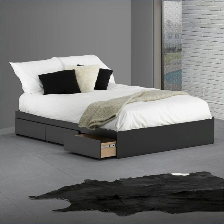 nexera avenue reversible storage bed in black lacquer melamine 22xx06