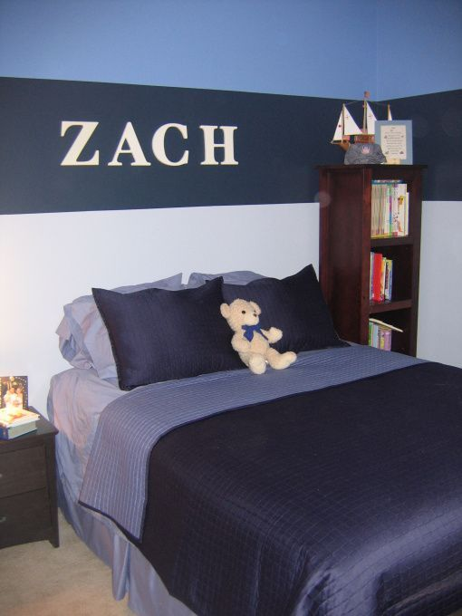 Bedroom Decor With Stripes For Pre Teen Boys