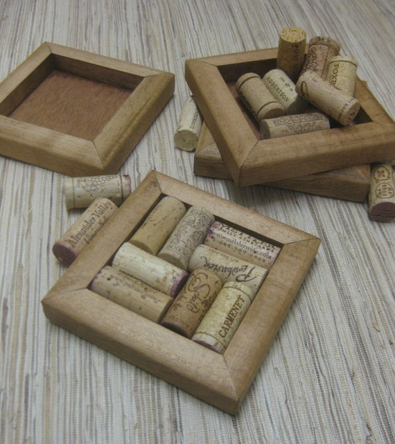 wine cork coasters!