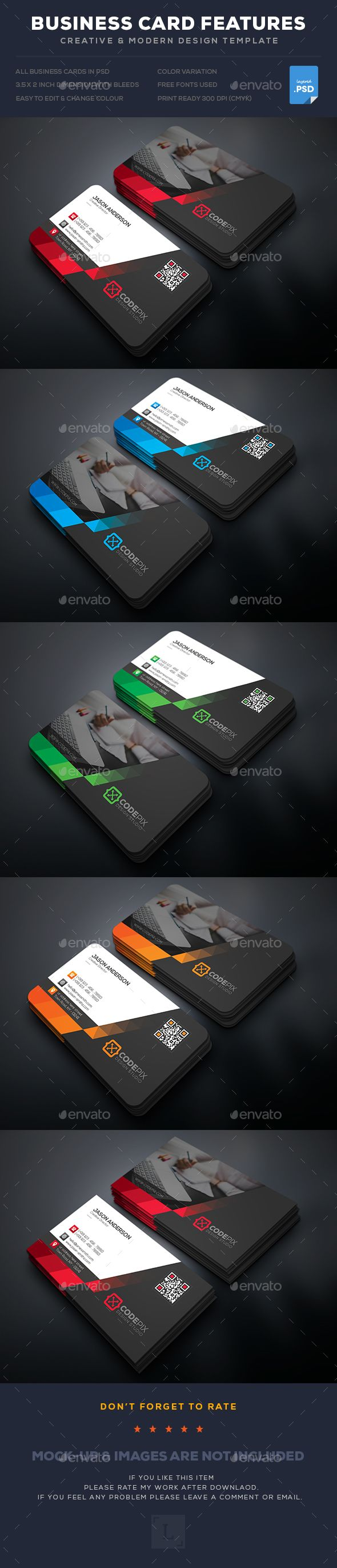 #Business Card - Business Cards Print Templates Download Here:   https://graphicriver.net/item/business-card/18190088?ref=suz_562geid