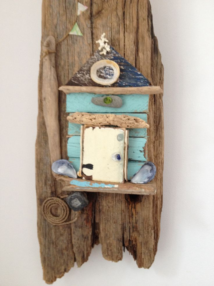 Beach huts from driftwood
