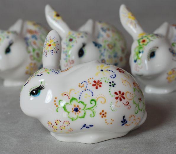 Ręcznie malowany królik świętokrzyski