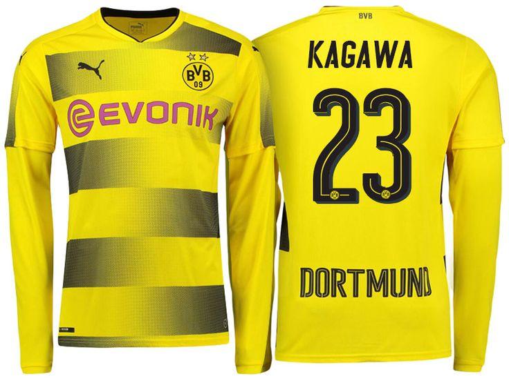 Borussia Dortmund 2017-18 LS Home Shirt shinji kagawa