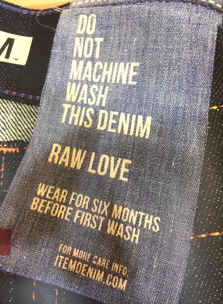 Raw Denim instructions