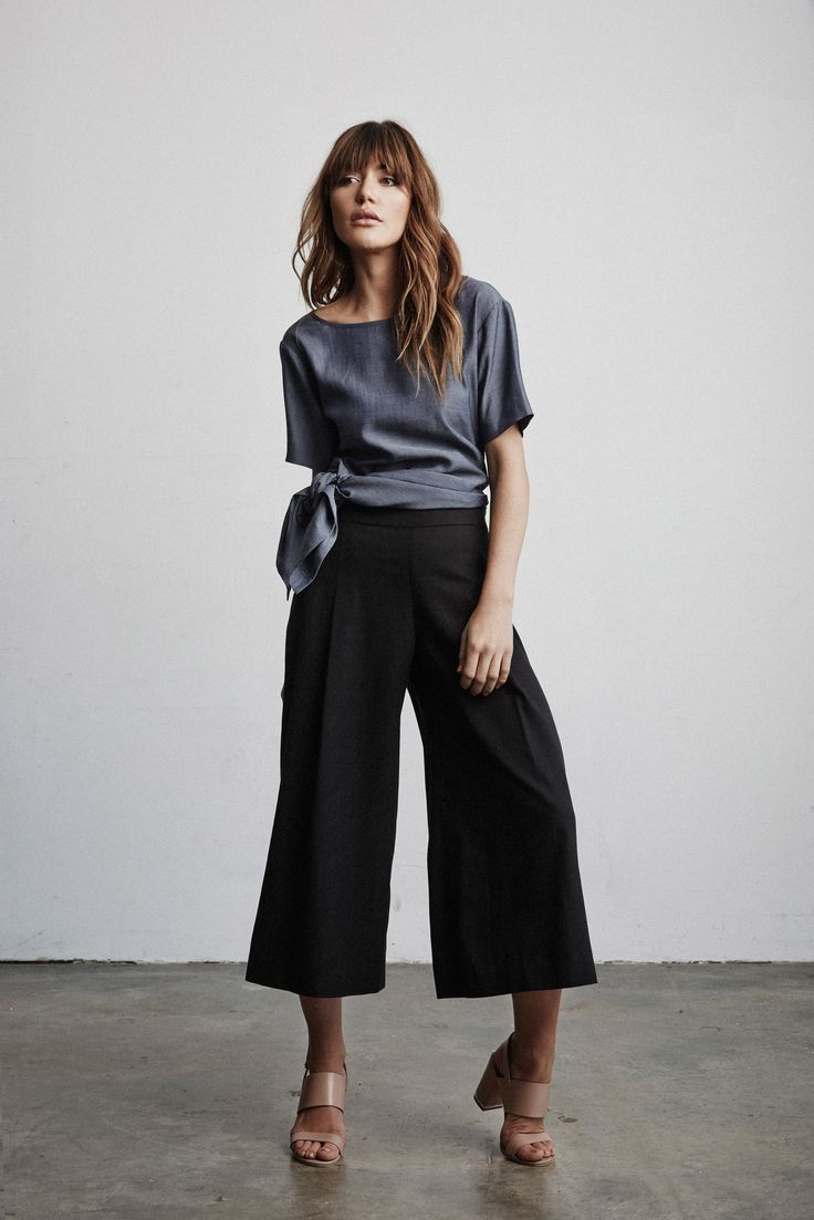 The Tunic tied & The Culottes www.vettacapsule.com