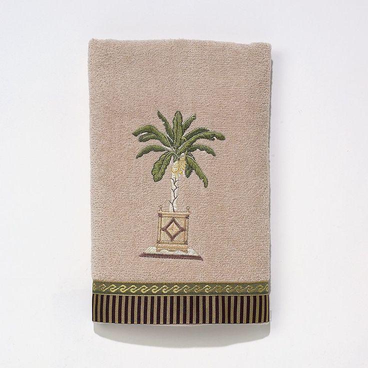Avanti Banana Palm Hand Towel, Beig/Green (Beig/Khaki)
