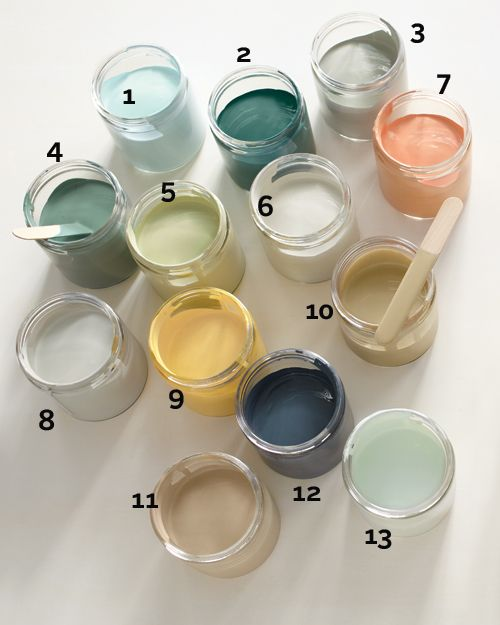 According to Martha, these are 18 go-with-everything, paint-anything, put-anywhere hues and projects that will work in any room.: Color Inspiration, Wall Color, Living Room, Paint Colors, Martha Stewart, Color Palette