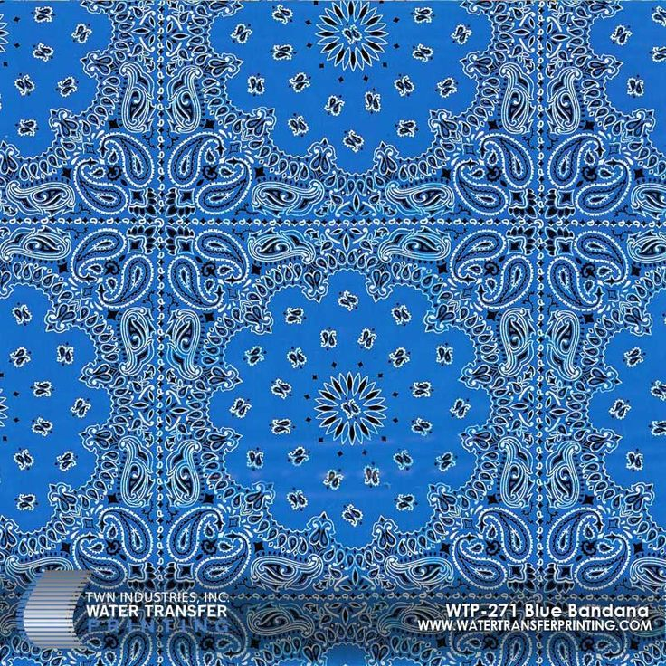 Blue Bandana Hydrographic Film adds a unique and stylish twist to everyday products. Customize your products with Water Transfer Printing film!