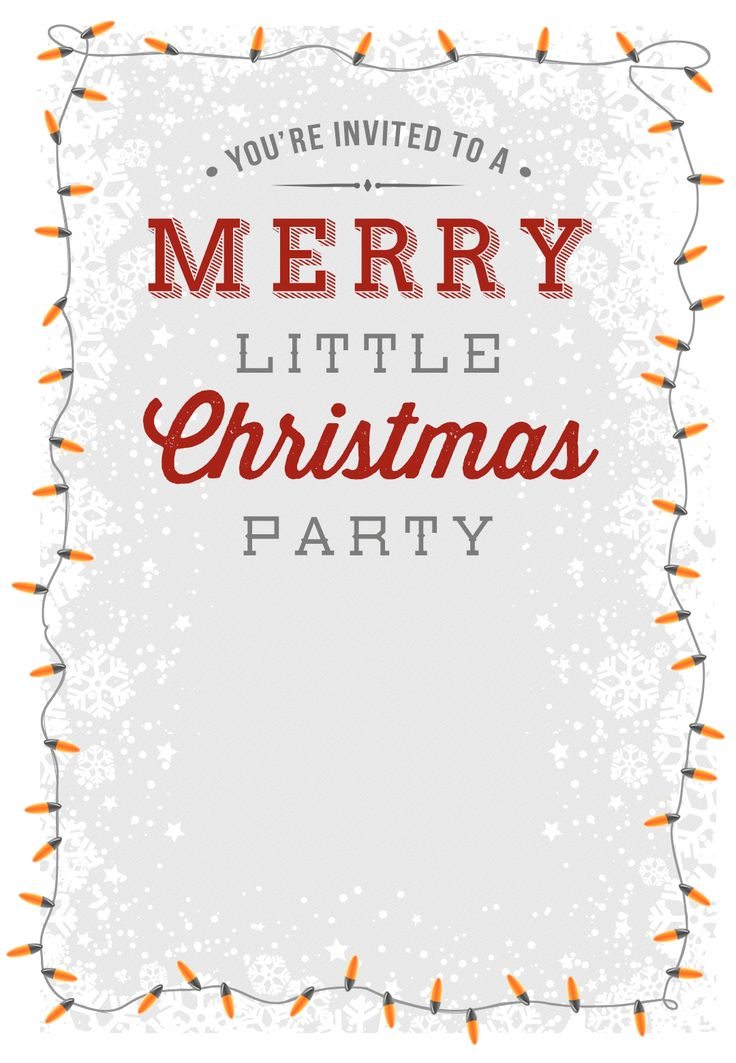 A Merry Little Party - Free Printable Christmas Invitation Template