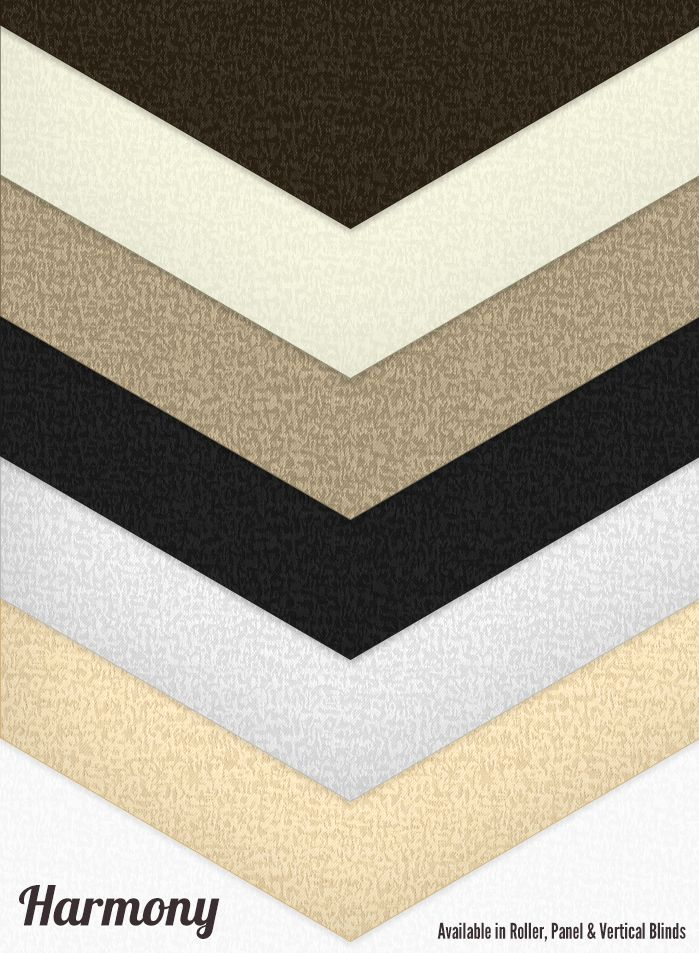The Harmony fabric Range. Available in Roller, Panel & Vertical Blinds #blinds