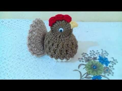 Pollito a crochet para adornar tu cocina - YouTube